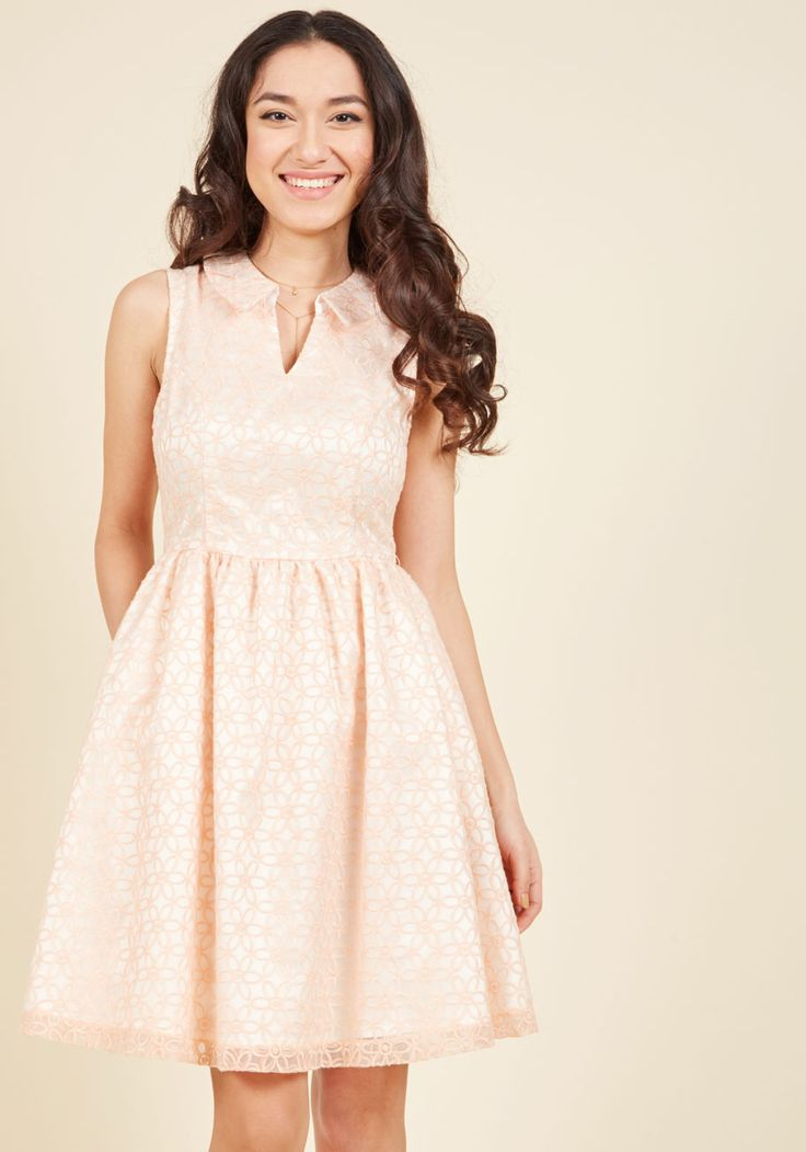 Commendable Character Fit and Flare Dress, #ModCloth
