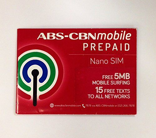#ABS-CBN #Mobile Prepaid SIM Pack (Nano SIM): The ABS-CBN Mobile prepaid service pack includes a nano SIM card with Philippine Peso 350 load. The PhP 350 load is ...