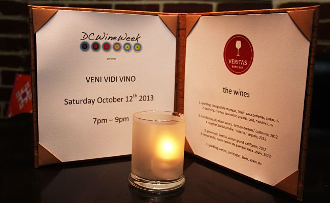 DC Wine Week Opening VIP Event: Veritas Wine Bar - Veni Vidi Vino