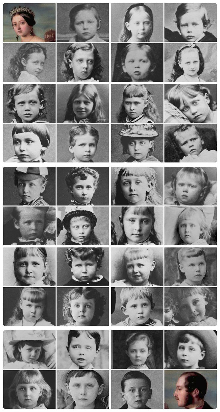 The grandchildren of Queen Victoria and Prince Albert as children