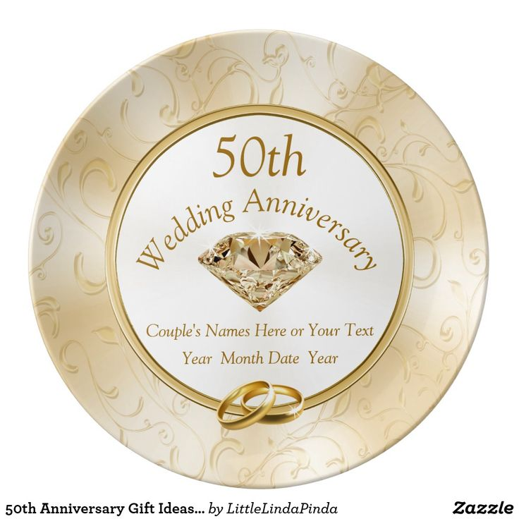 50th Anniversary Gift Ideas for Friends, Family and your anniversary Plate CLICK: https://www.zazzle.com/z/okiod?rf=238147997806552929 Stunning 50 year wedding anniversary commemorative plates. CALL Zazzle Designer Linda to change the occasion, year, golden diamond printed on porcelain anniversary plates. 239-949-9090 MORE HERE: http://www.zazzle.com/littlelindapinda/gifts?cg=196114898786828958&rf=238147997806552929