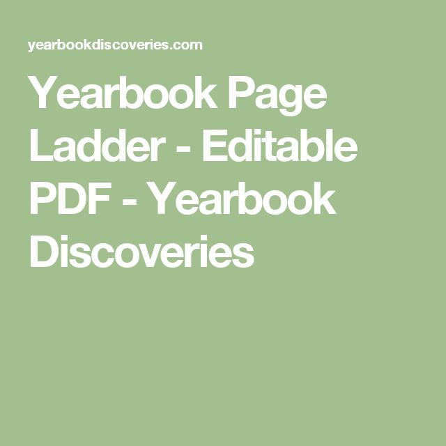 Yearbook Page Ladder - Editable PDF - Yearbook Discoveries