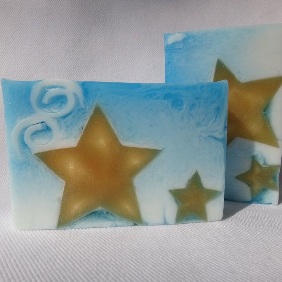 Starry Night shea butter and glycerin soap star soap. Wow!