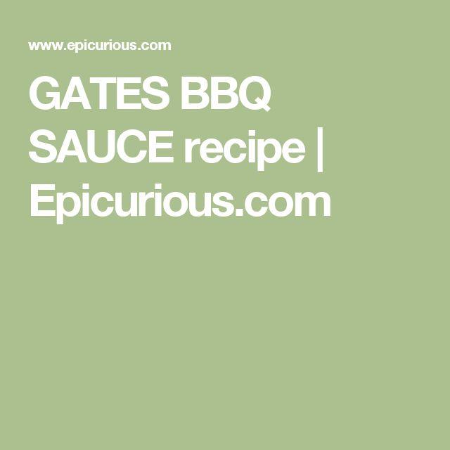 GATES BBQ SAUCE recipe | Epicurious.com