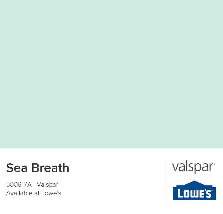 Valspar Paint - Color Chip - Sea Breath, great room