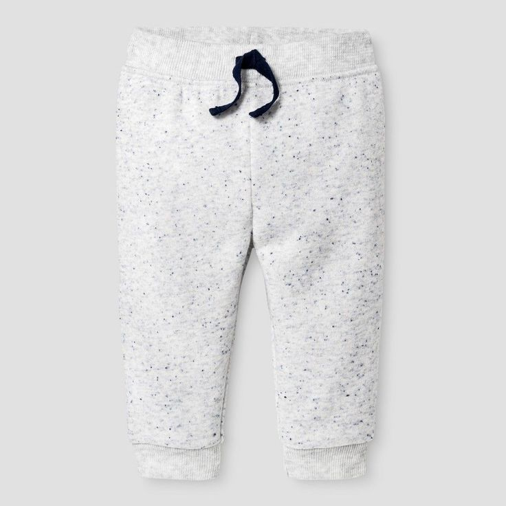 Baby Boys' Jogger Pant - Baby Cat & Jack Gray with Blue Neps 3-6 M