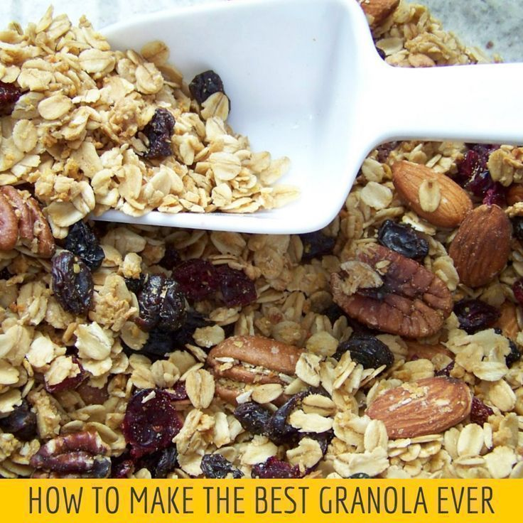 Best granola, Granola and How to make on Pinterest