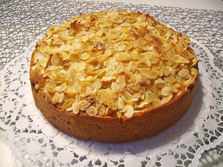 Apfelkuchen mit Florentiner-Mandeln