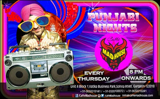 Ring in the early winter with non-stop Punjabi music tonight. What better way to kick off your favorite season than bouncing into it on one of the happiest dance floors in Gurgaon. #PunjabiNight #BeDesi #FunStartsHere