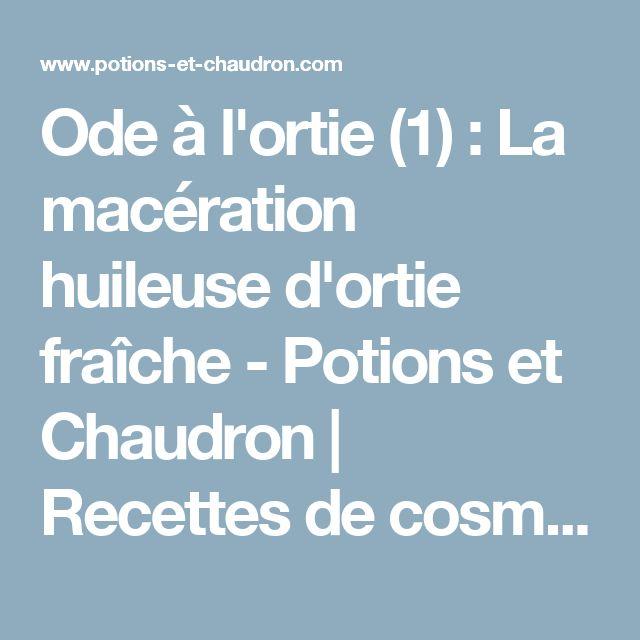 Ode à l'ortie (1) : La macération huileuse d'ortie fraîche - Potions et Chaudron | Recettes de cosmétiques naturels et bio, savons faits maison, aromathérapie