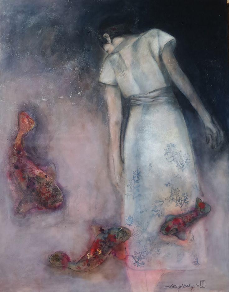 """Waistdeep"" Mixed media on canvas. Nicolette Geldenhuys www.nicolettegeldenhuysart.co.za"