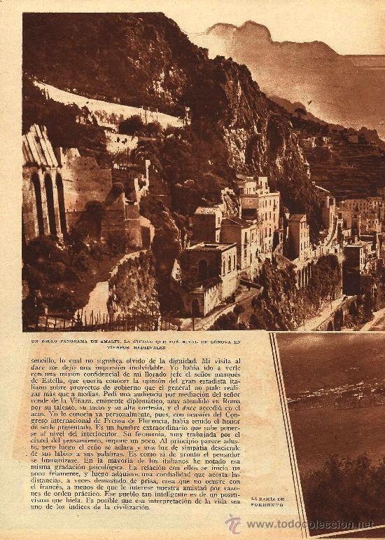 * SORRENTO, AMALFI * Paisajes del sur de ITALIA - 1933 - Foto 1
