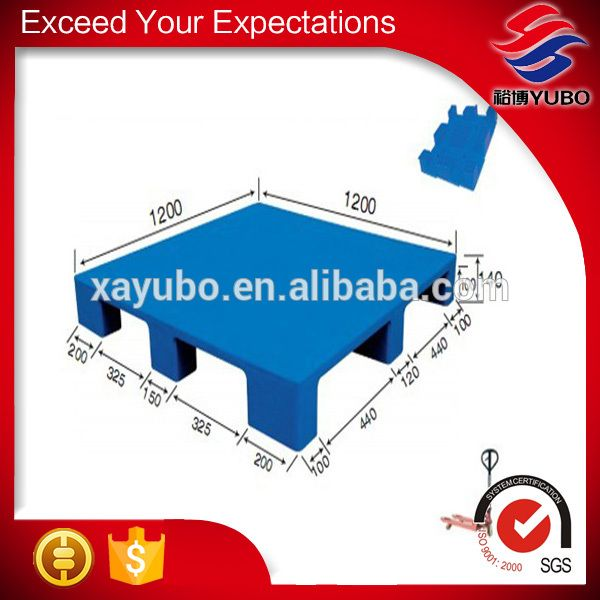 heavy duty standard color blue transportation made in flat 9 feet nestable plastic pallet for supermarket