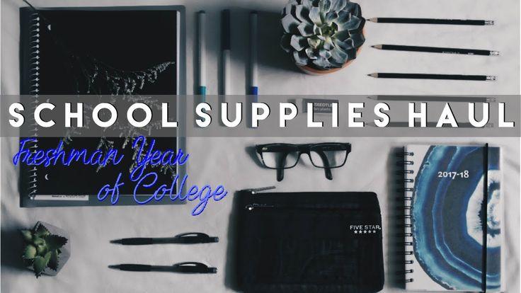 ✦ SCHOOL SUPPLIES HAUL ✧ | Minimalist School Supplies For Freshman Year of College | VILY ROSE ♡ - YouTube