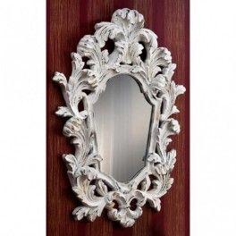 Espejo Juliette acabado en blanco/oro