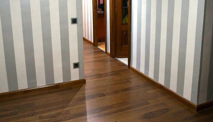 Suelo de madera de nogal de la marca Parky