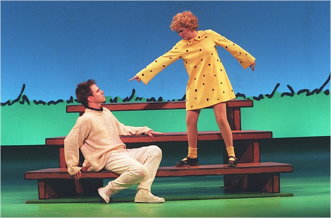 You're a Good Man Charlie Brown on broadway. Saw this live! 2 of the best hours of my life!