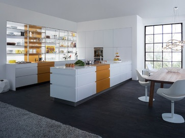 "Light and open, carefree and cheerful, the positive, energy filled atmosphere of the LEICHT KITCHEN ""Tocco 