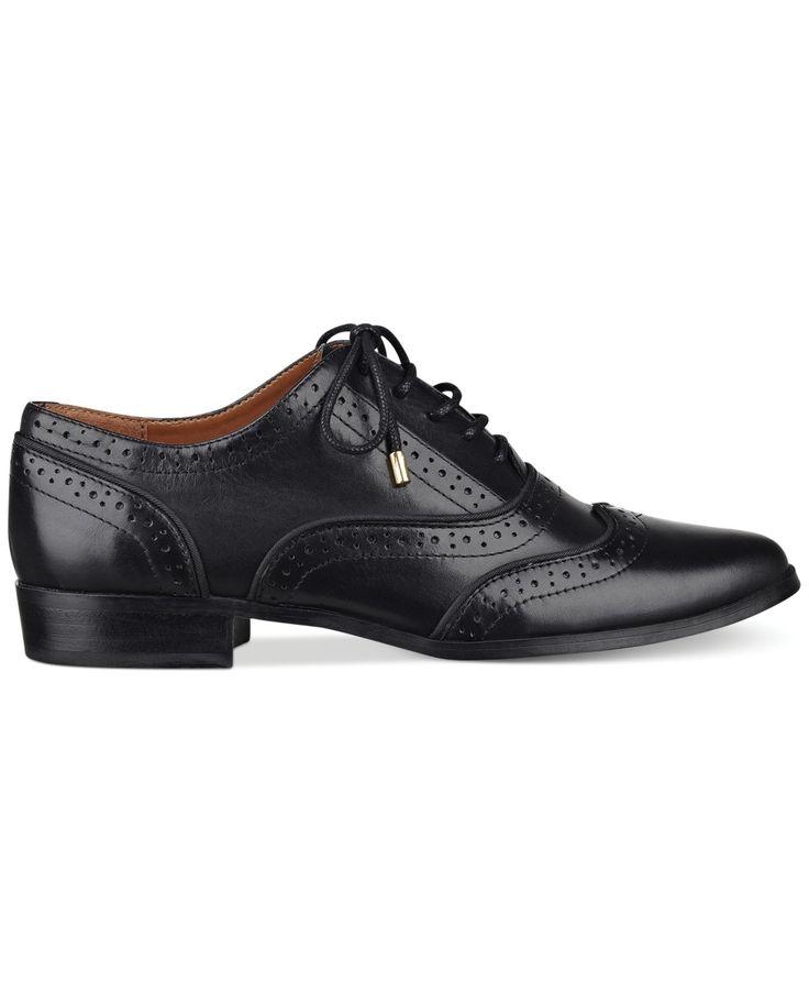 Tommy Hilfiger Prep Womens Black Oxfords Shoes