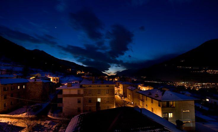 Hotel Campelli - Vista notturna dalla finestra della Spa al quarto piano