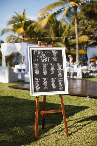 Table chart: http://www.stylemepretty.com/destination-weddings/2014/10/01/fun-sayulita-mexico-wedding/ | Photography: Kate Price - http://katepricephotography.com/
