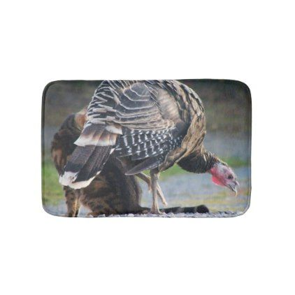 Turkey Poult And Cat Bath Mat - animal gift ideas animals and pets diy customize