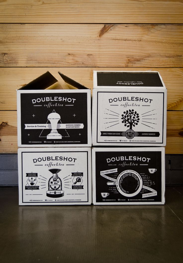 When it came time to order new wholesale cartons to package Doubleshot's goods for delivery, I used the whole box rather than just slap a logo on the side. Instead, I illustrated the steps of the 'seed to cup' process — from the farm in Malawi, to the roa…