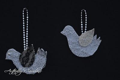 Doves: Pretty Things, Felt Ornaments