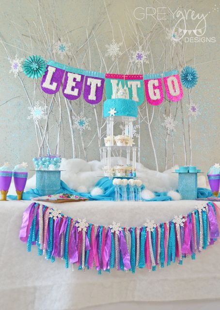 Disney Frozen Birthday Party Ideas | Photo 25 of 58 | Catch My Party