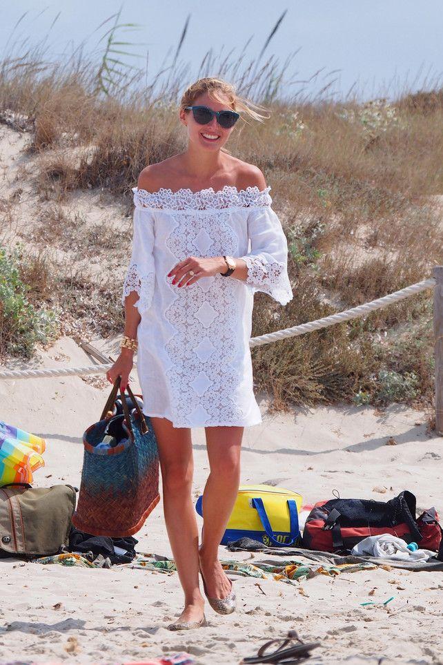 Olivia en la playa