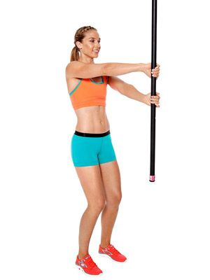 Ahhh, I never knew what to do with those weighted bars at the gym, before now!