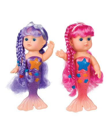 Another great find on #zulily! Mermaid Bath Time Doll Set #zulilyfinds