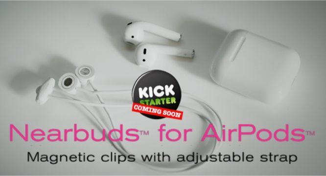 Fabricate has announced an upcoming Kickstarter campaign for Nearbuds for AirPods, a new product the company is developing on the heels of its earlier Nearpods for EarPods accessory for managing Apple's wired earphones.…