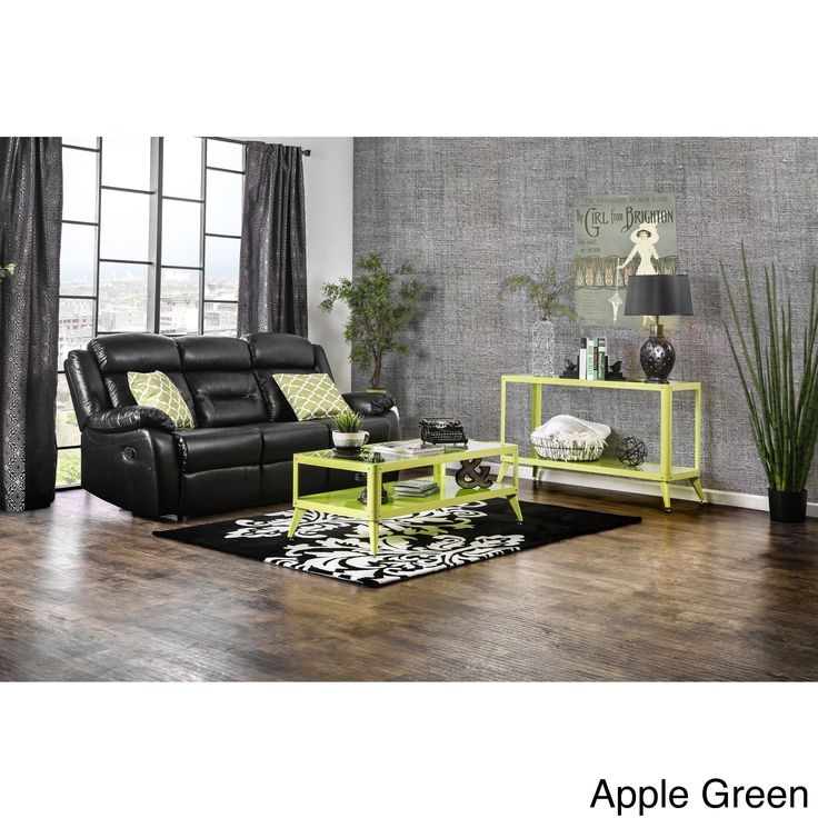 Furniture of America Linden Modern 3-piece Top Metal Accent Table Set