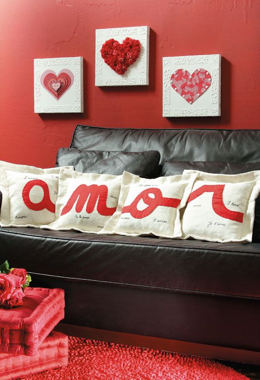 Dia dos namorados Quero Decorar Festas Pinterest Amor, The pillow and Chic -> Como Decorar Quarto Pro Dia Dos Namorados