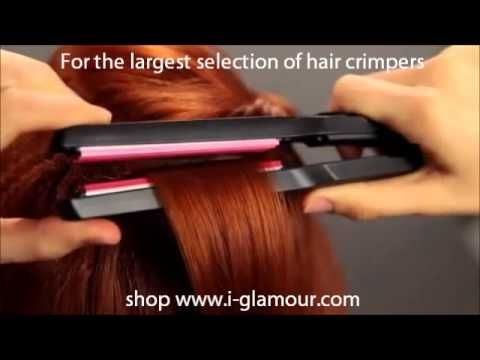 Create root volume with BaByliss hair crimpers: i-glamour.com - YouTube Crimp hair at roots for volume.