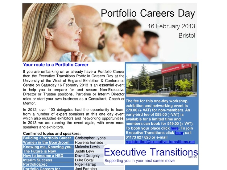 portfolio-careers-day-2013 by David Doughty via Slideshare