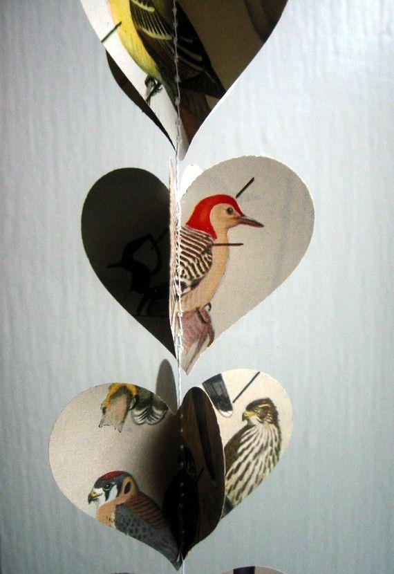 Birds- Heart Garland