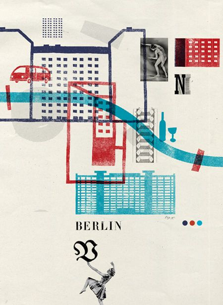 Berlin map design...one of the coolest cities I've ever been and one of my favorites.