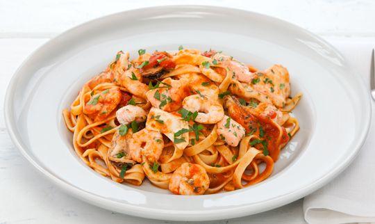 Free seafood marinara pasta recipe. Try this free, quick and easy seafood marinara pasta recipe from countdown.co.nz.