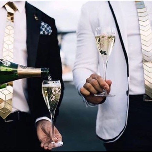 Rocking Hex the way they know best, popping bottles on the runway  @hextie @christopher_lourdes @sanchovanryan #hextie👍 or 👎 this style ? . . . . . . #thedapperhaus #mensfashionreport #mensfashion #mensstyle #menwithstyle #menwithclass #fashionpost #gq #sprezza #luxurylifestyle #gentleman #classy #dapper #menswear #fashion #mensfashionblogger #style #instagood #picoftheday #boss #luxury #sartorial #instastyle #success #moda #motivation #upscale #instalike #suitandtie