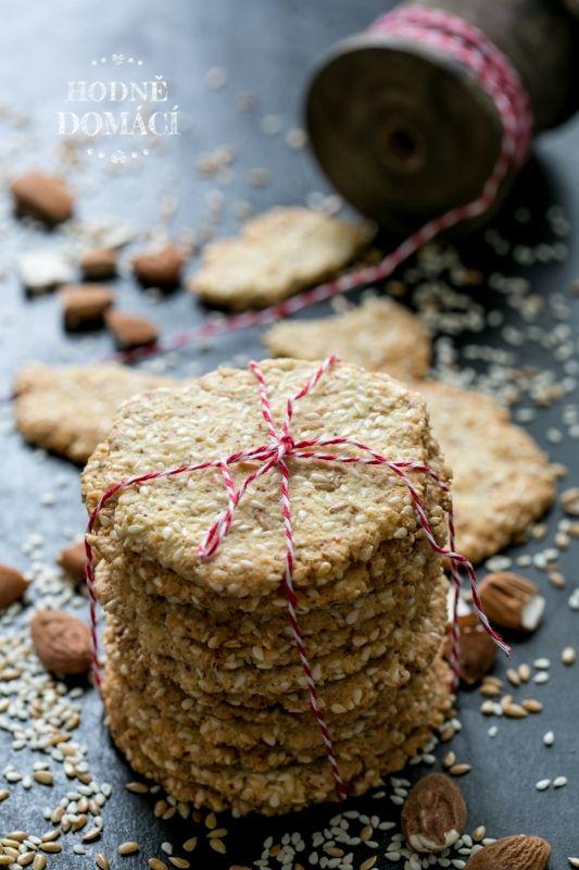 Mandlovo-sezamové krekry | Hodně domácí