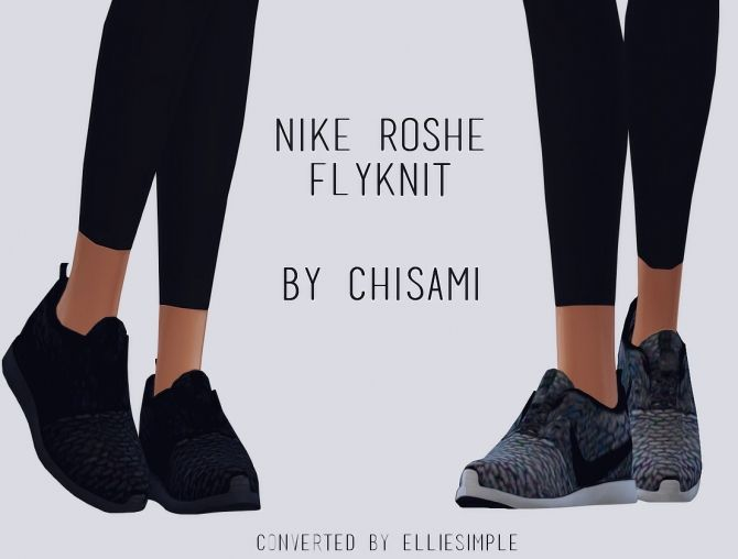 Chisami's ROSHE FLYKNIT conversion at Elliesimple • Sims 4 Updates