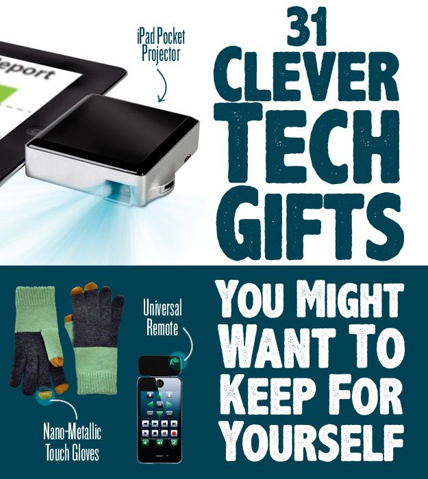 31 Clever Tech Gifts You Might Want To Keep For Yourself (via BuzzFeed)