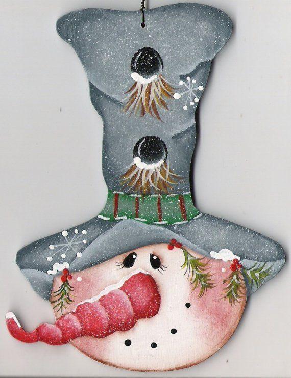 Snowman, print H. podge to board...let it snow