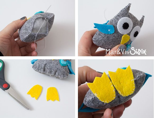 Felt Owl Step by Step