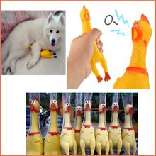 Funny gadgets 31cm High Quality novelty Yellow rubber Dog Toy Fun Novelty Squawking Screaming Shrilling Rubber Chicken for kids. dog toy DIY, dog toys homemade, Kong dog toys, dog toys for chewers , best dog toys , dog toys interactive, dog toys to make, dog toys stimulating, dog toys boredom, outdoor dog toys, dog toys storage, easy dog toys smart dog toys, tough dog toys,