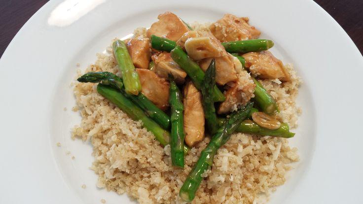 Lemon Chicken & Asparagus Quinoa Bowl