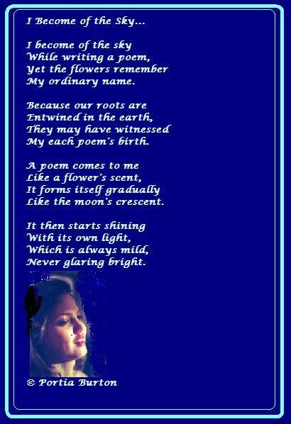 I Become of the Sky- © Portia Burton