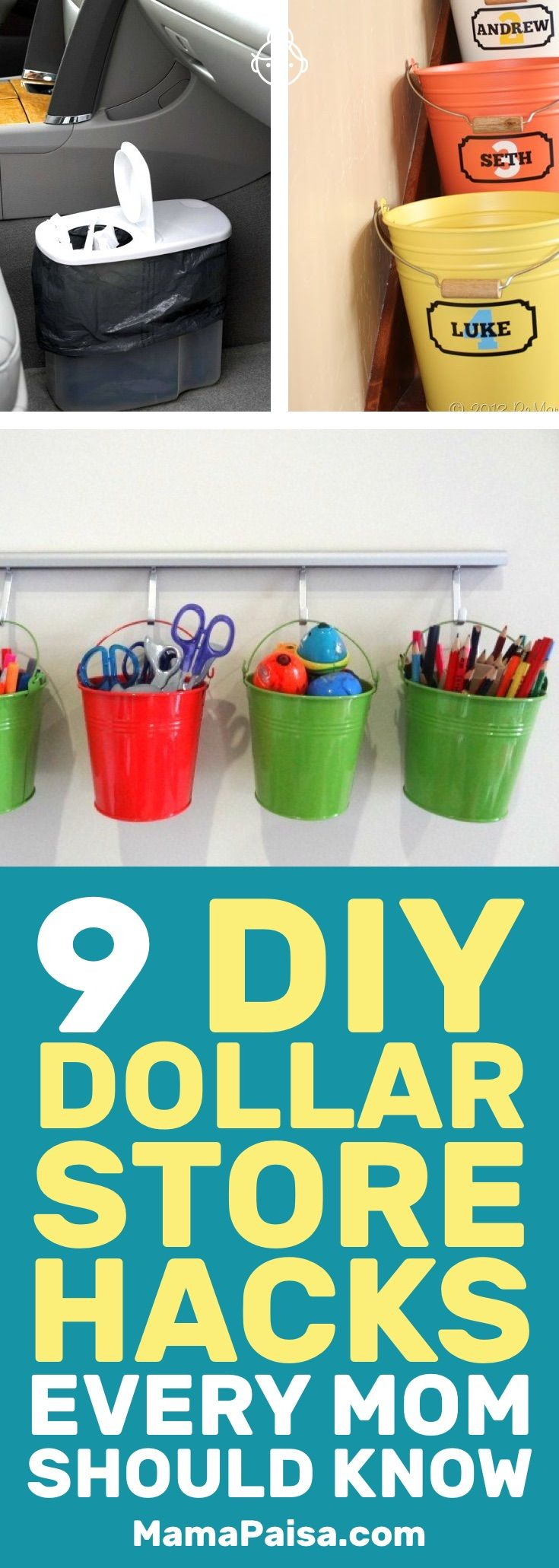 Dollar Store hacks can make your life a lot easier on a budget. These DIY Dollar Store hacks are great mom hacks.
